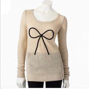 Lauren Conrad cream gold knit sweater